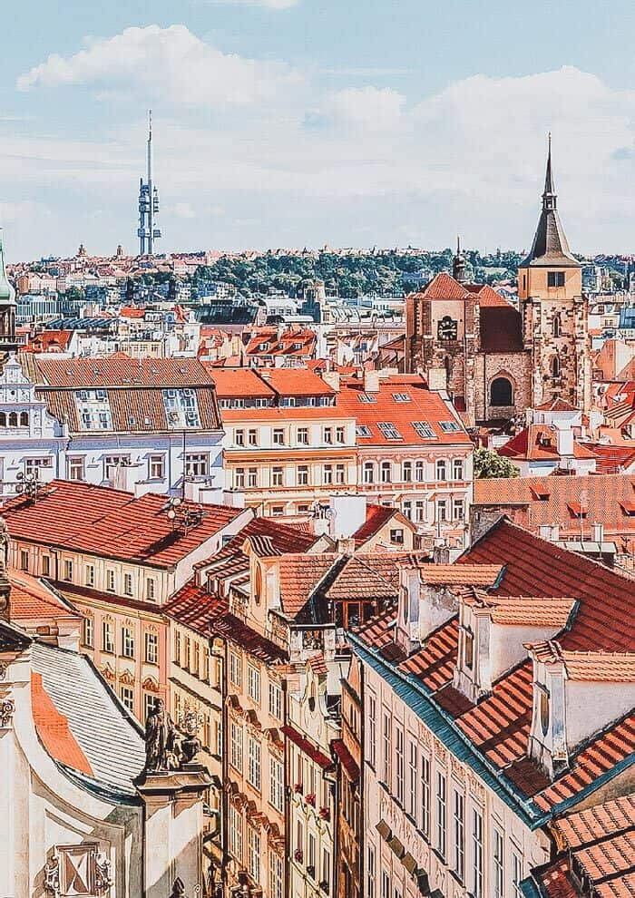 Prague, Czech Republic! This part of the city literally looks too perfect to be real. Click to see 15 of the most beautiful fairytale travel destinations in the world! #wanderlust #france #traveltips #europe #bucketlist #travel #villages #travelmore #castles #portugal #traveling #palace #roadtrip #avenlylane
