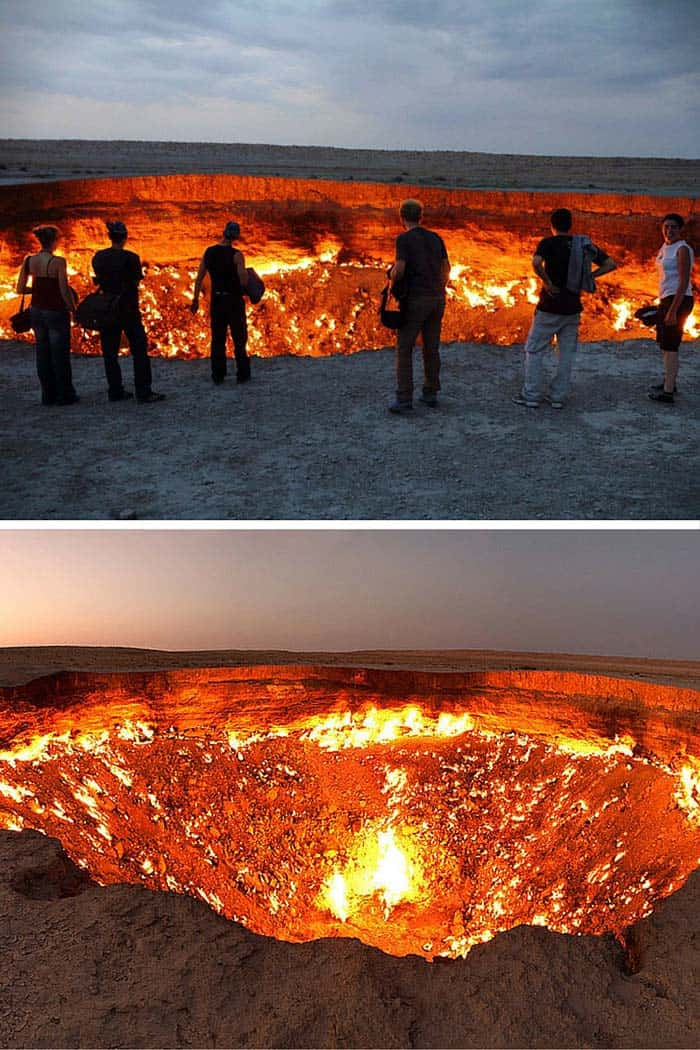 Door to Hell, Turkmenistan! 20 Unreal Travel Destinations! Click through to read the full post!
