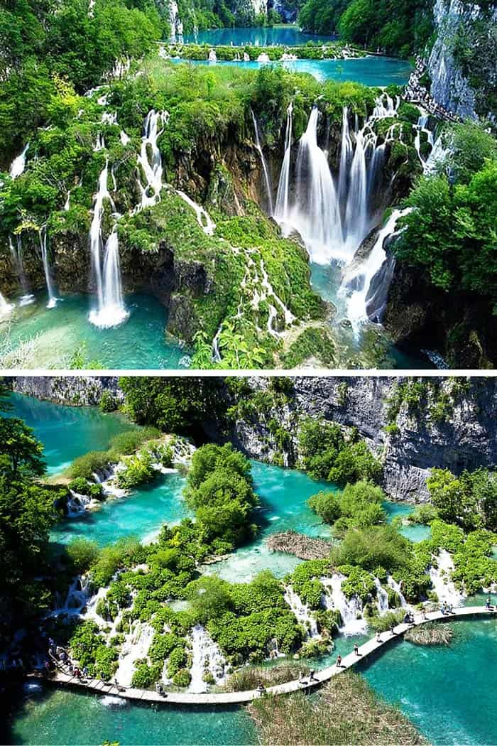 Plitvice Lakes, Croatia. 20 UNREAL Travel Destinations you have to see!! Click through to read the full post!