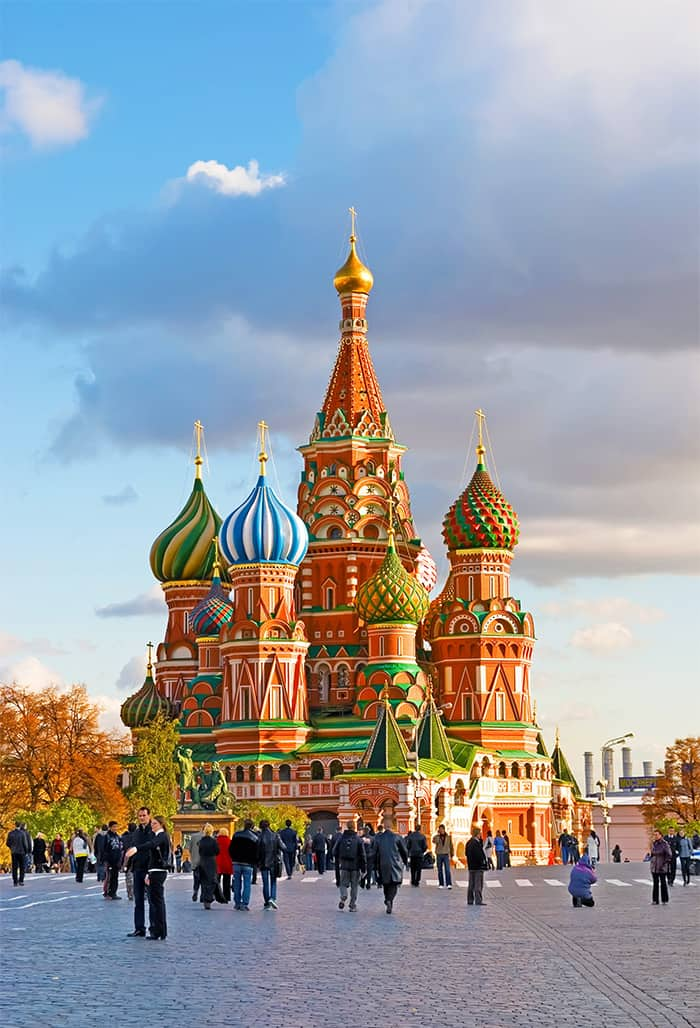 St. Basil's Cathedral in Moscow, Russia