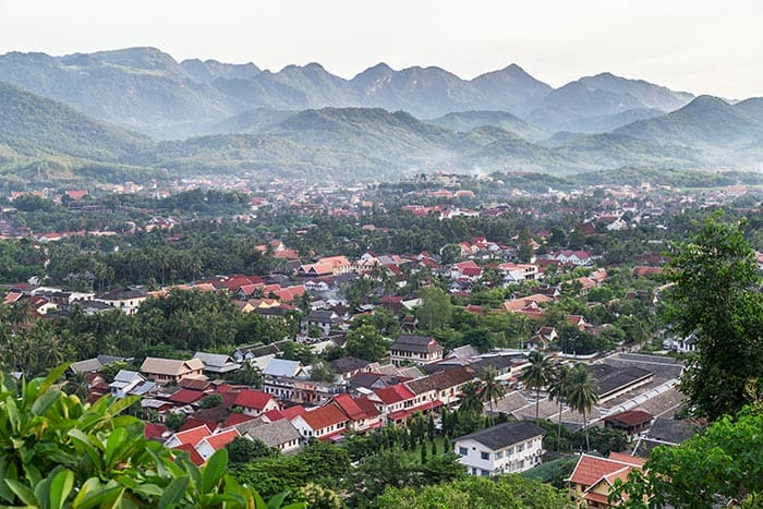 View Of Luang Prabang, Laos From Mount Phousi!