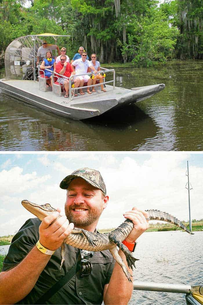 Swamp boat tour! Click through to read the top 10 things to do in New Orleans on AvenlyLaneTravel.com