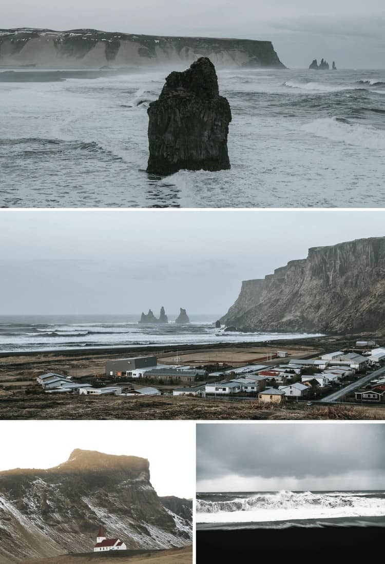 Black Sand Beaches in Vik Iceland