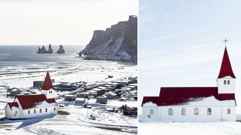 Church in Vik Iceland. Vik, Iceland in the winter!