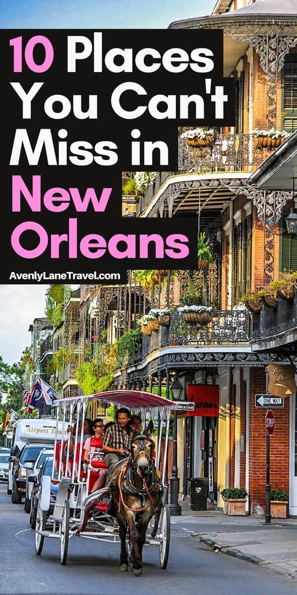 New Orleans is an incredibly unique city. Click through to see the top 10 things to do in New Orleans! Read the full article on AvenlyLaneTravel.com