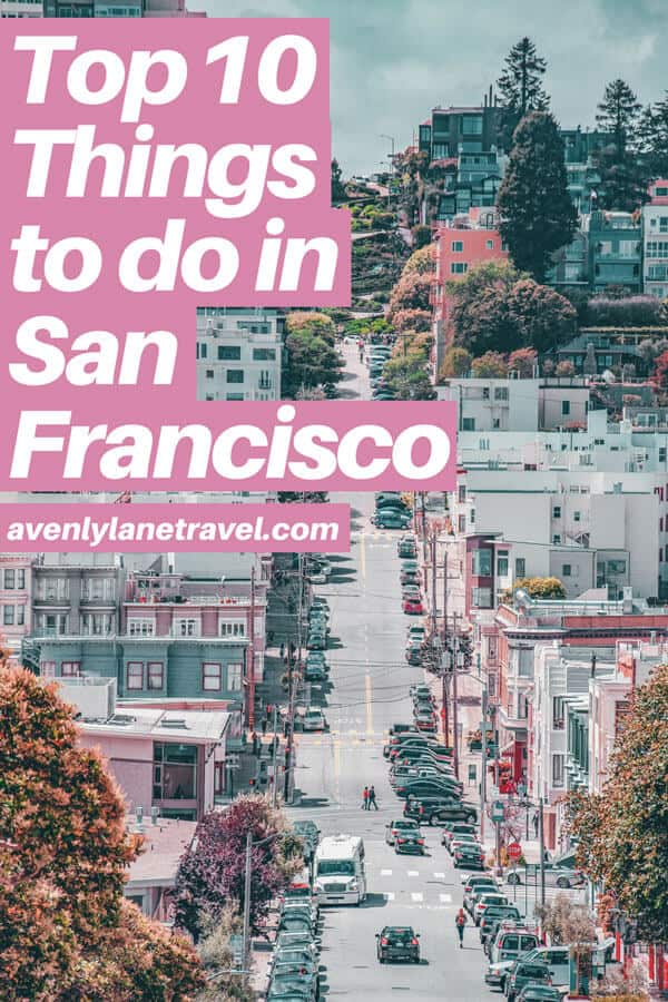 Top 10 Things to do in San Francisco, CA. San Francisco has so many incredible city photography spots it can be hard to know which ones are a must see. Click the pin to explore the best things to do in San Francisco, including the Painted Ladies, The Golden Gate Bridge, the beautiful beaches, Lombard Street, Alcatraz Island and so much more. #sanfrancisco #california #usatravel #usa #travelblog #travel #wanderlust