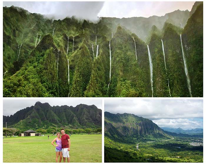 Waterfalls at Ko'olau Mountain Range! 11 Places You Can't Miss In Hawaii (Oahu). A quick preview of the top spots you need to see on your next trip to Hawaii! - Avenly Lane Travel