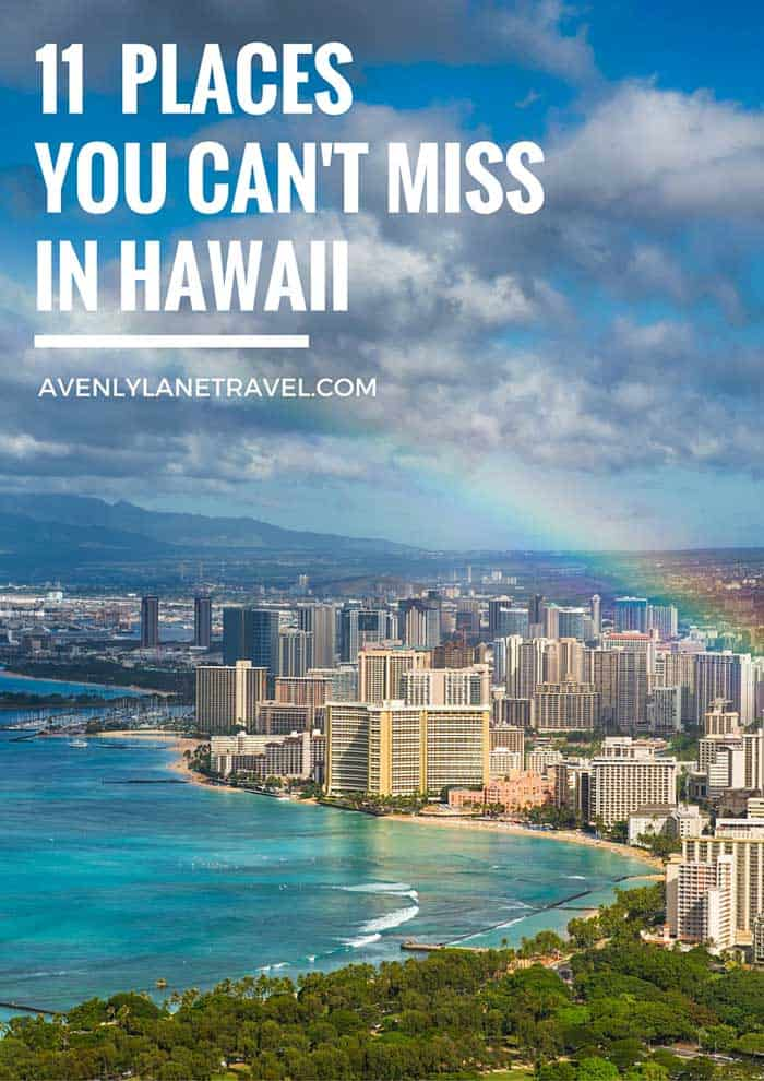 11 Places You Can't Miss In Hawaii (Oahu). A quick preview of the top spots you need to see on your next trip to Hawaii! - #avenlylanetravel #hawaii #oahu #islands #usatravel #hawaiianislands #tropicalbeaches