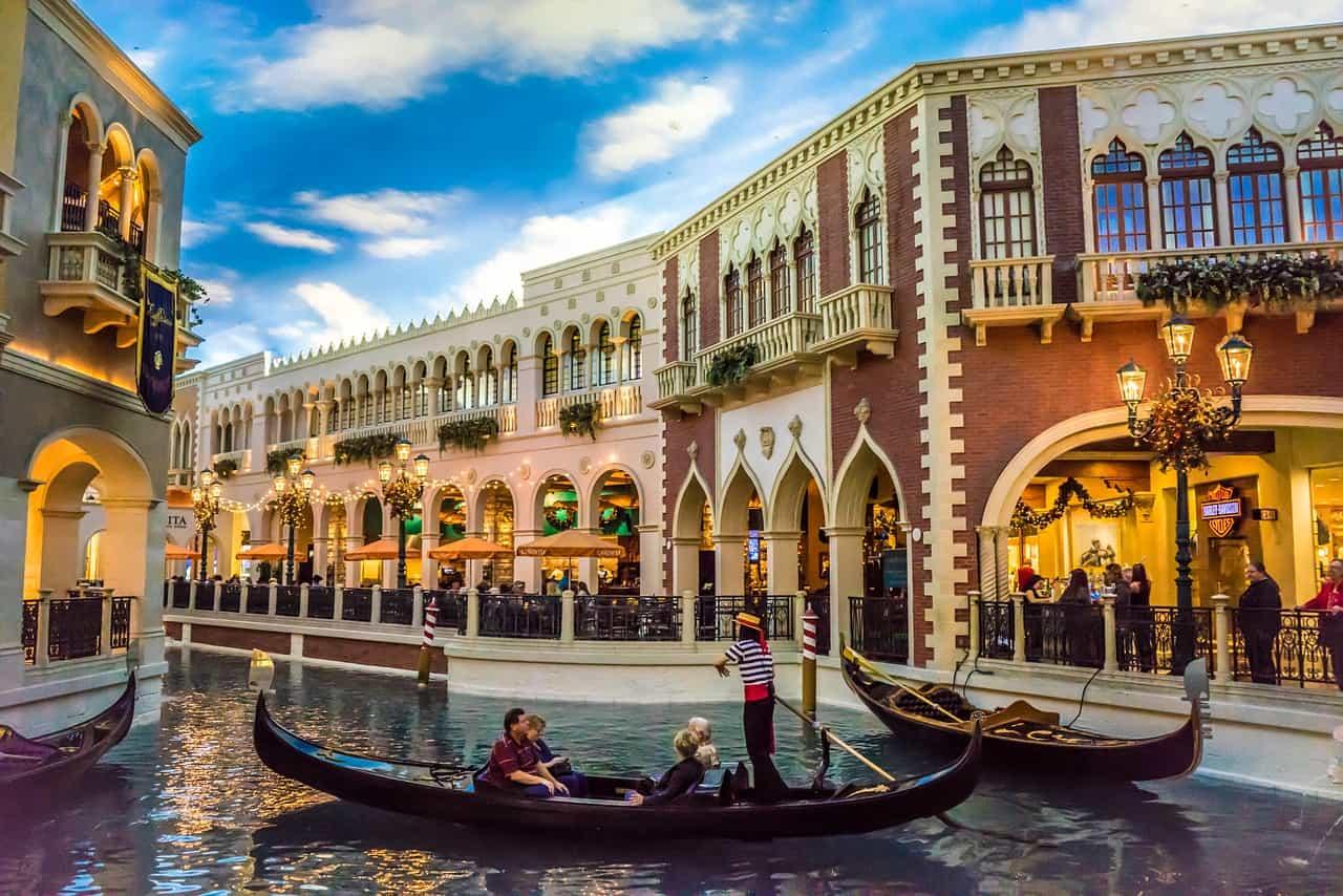 Gondola ride at the Venetian hotel in Las Vegas!