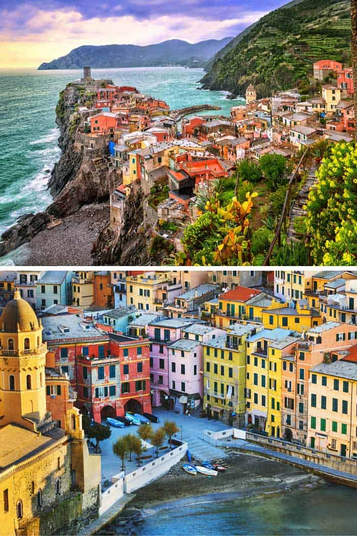 The village of Vernazza, one of the Cinque Terre on the Italian coast. Click through to see 25 more of the most amazing villages in the world!