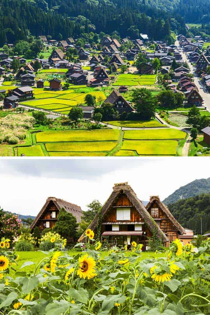 Gifu village Shirakawa in Japan