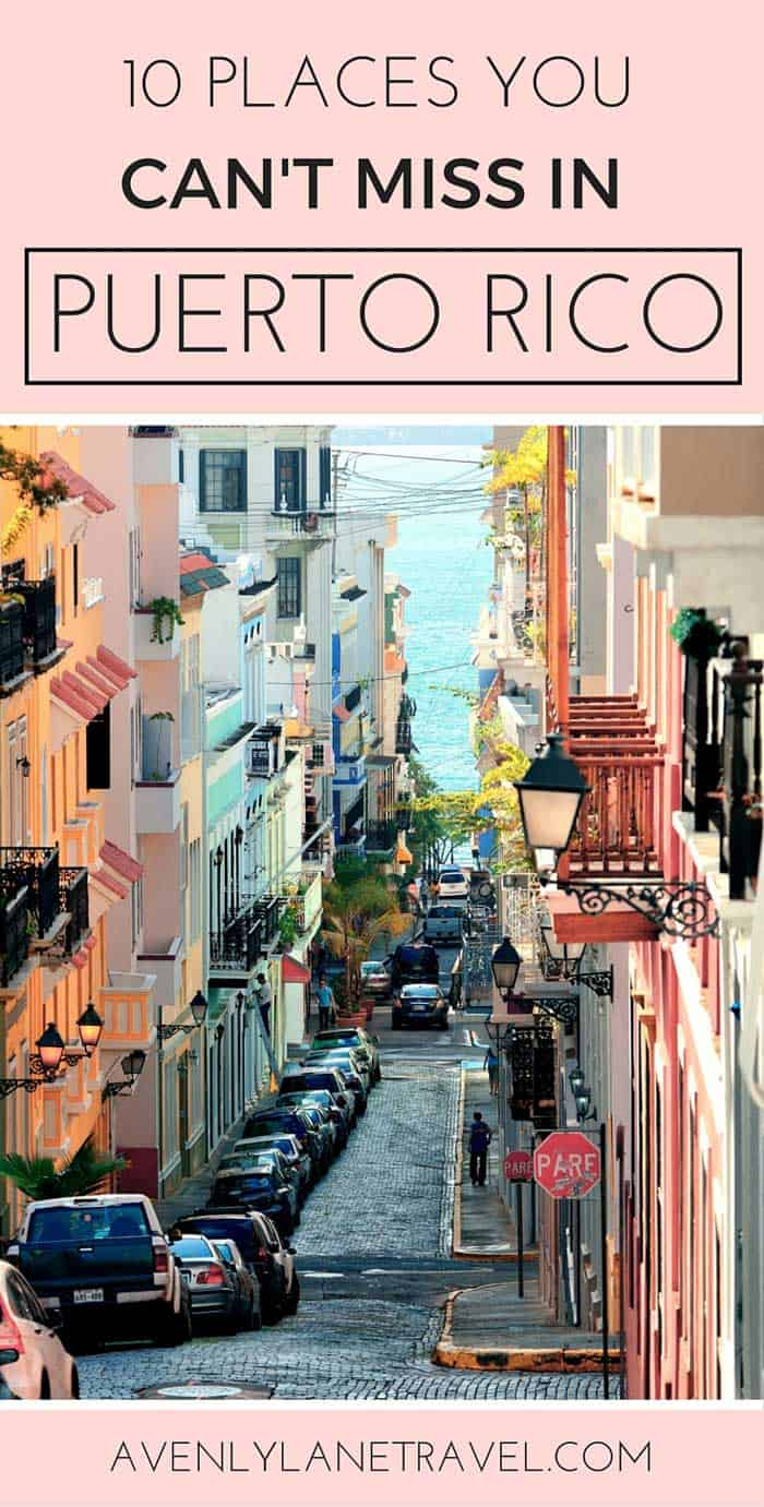 Top Things to do in Puerto Rico! Puerto Rico is one of the easiest places to get to from the United States as well as one of the most beautiful! Click through to see what you can't miss while visiting the island! #puertorico #avenlylane #travel #traveltips #avenlylanetravel #usa | www.avenlylanetravel.com