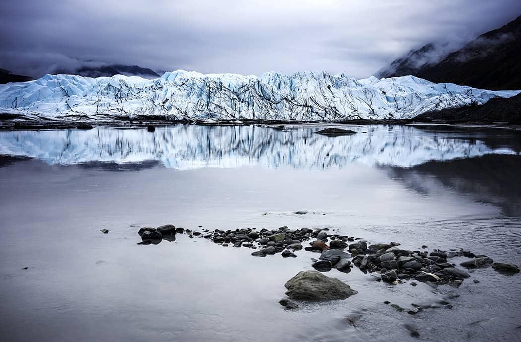 Matanuska Glacier in Alaska Close Up View