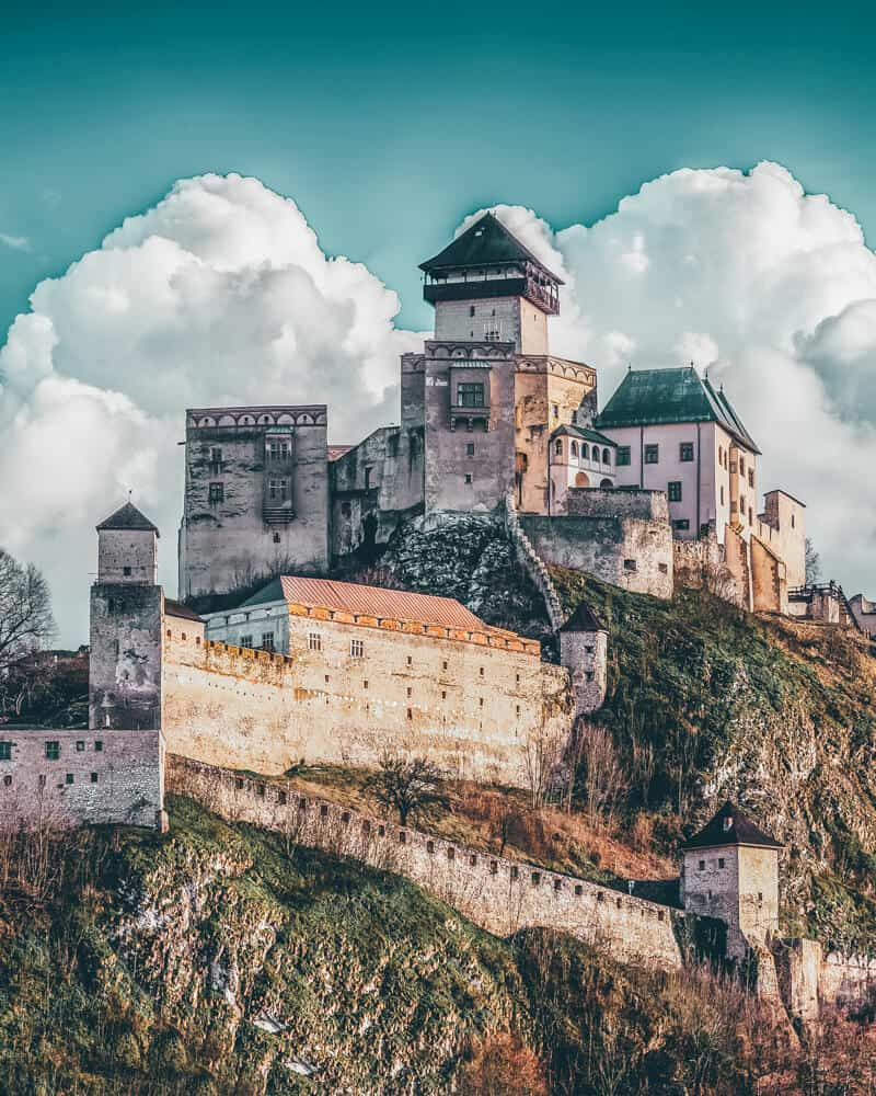 Trencin Castle, Slovakia. Trencin Castle - Even though Slovakia is a small country, it has a lot of beautiful and well preserved castles.  Trencin castle is an example of one.