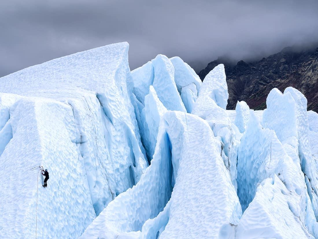 Alaska Glacier Climber - remote interior Alaska