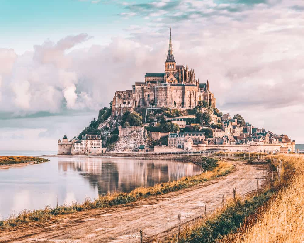 Mont Saint Michel, France! Major travel inspiration here! The Most Beautiful Fairytale Castles in the world on avenlylanetravel.com #france #castles #AVENLYLANETRAVEL #AVENLYLANE #europe #travel #travelblogger #europe