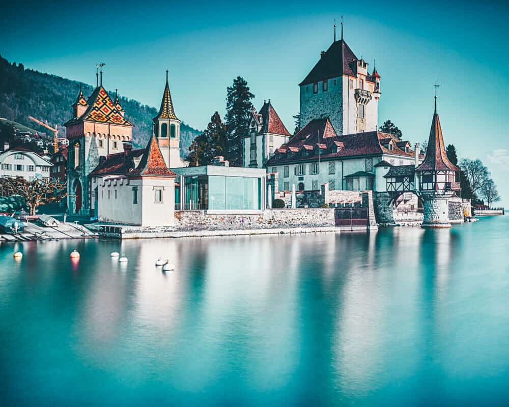 Oberhofen Castle, Swiss Alps
