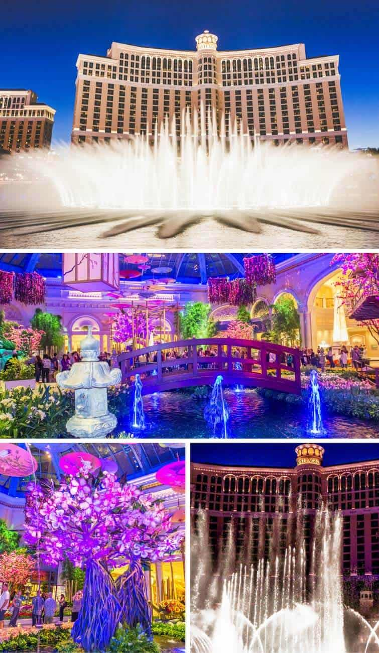 Bellagio Fountains and Gardens in Las Vegas! See the top 10 things to do in Las Vegas on avenlylanetravel.com