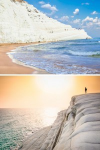 Scala dei Turchi, Sicily, Italy. Ever been to a beach with giant ice cubes all over? Or what about a reandom hole in the ground that opens up into a beautiful beach! Click through to see 15 more of the world's most unique & awesome beaches!
