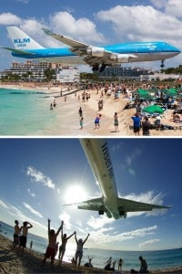 Maho Beach (Airplane Beach), Saint Martin. Ever been to a beach with giant ice cubes all over? Or what about a reandom hole in the ground that opens up into a beautiful beach! Click through to see 15 more of the world's most unique & awesome beaches!
