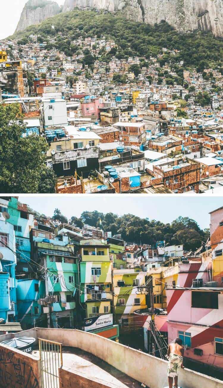 Favelas in Rio de Janeiro, Brazil
