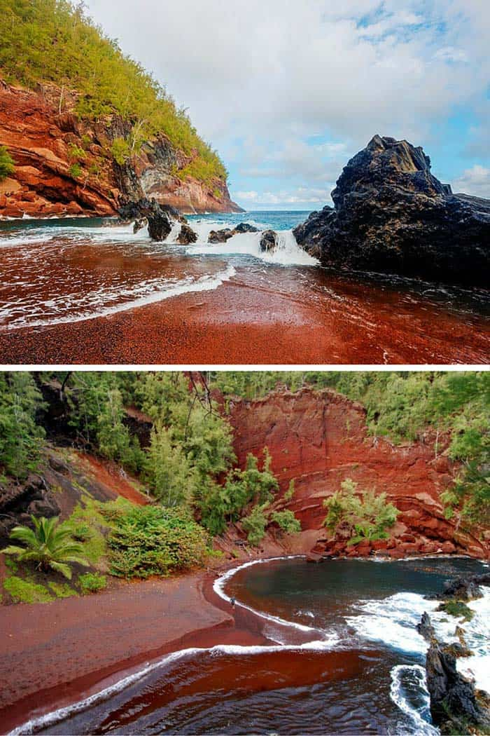 Kaihalulu Red Sand Beach, Maui
