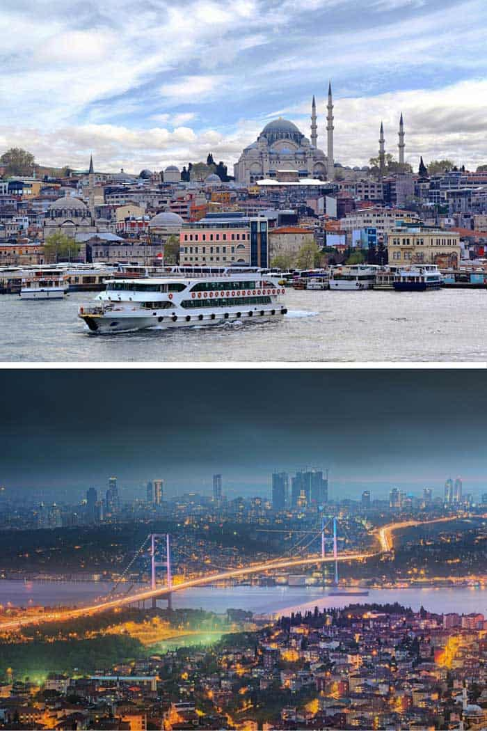 Istanbul used called Constantinople, and even though some people still do, the Turks don't want you to, so stop it! This popular tourist city has the unique honor the border between Europe and Asia. Click through to see 18 of the BEST skylines in the world!