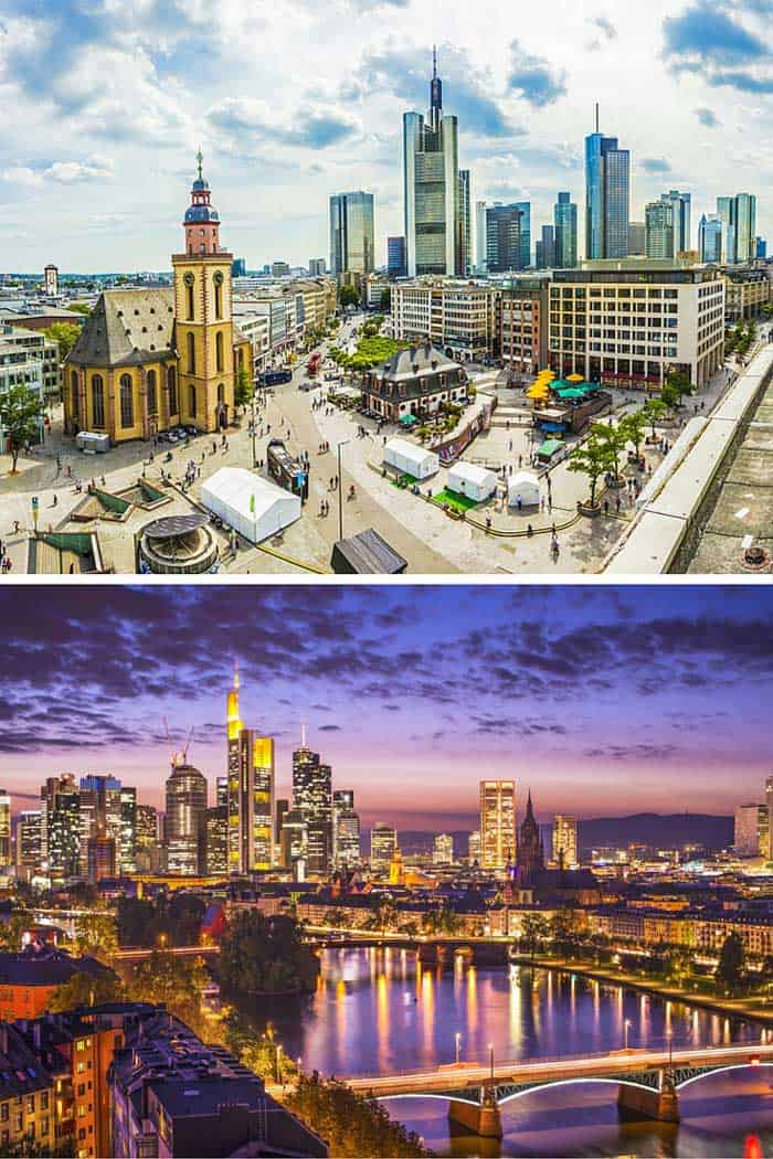 Frankfurt is known as Germany's financial center, and frankly (get it) one of the world's financial centers. I think of it as an airport I've been stuck in too many times. Click through to see 18 of the BEST skylines in the world!