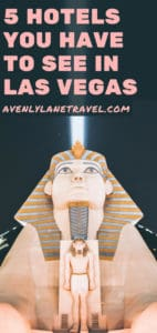 The Luxor Hotel on the Las Vegas strip. There are so many amazing hotels in Las Vegas it can be overwhelming trying to pick just one! Here is our list of the top 5 hotels in Las Vegas. Best things to do in Las Vegas. #vegas #lasvegas #travel #hotels #avenlylanetravel