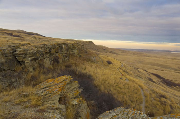 Head Smashed in Buffalo Jump, yes that is the real name of this place.