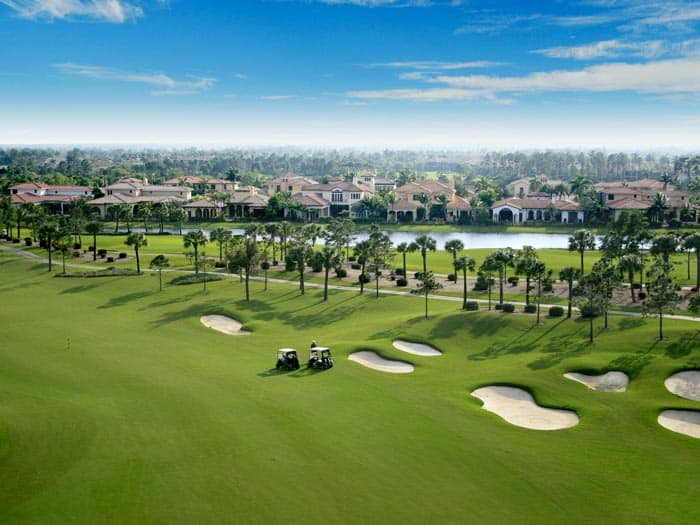 Golf course in Tampa Florida