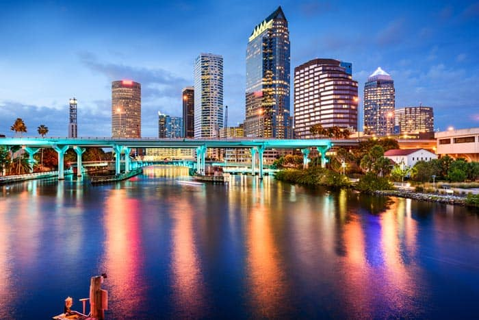 Tampa Florida skyline.