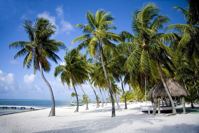 Beautiful white sand beaches in the Florida Keys.