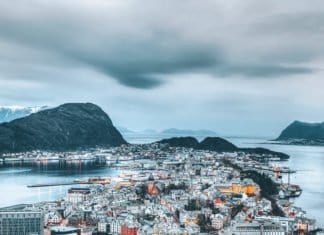Gorgeous city of Ålesund.