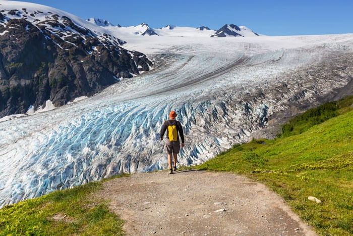 Exit Glacier Hike in the Kenai Peninsula.  This is supposedly the only glacier is Alaska that you can easily walk to.  It is only a few miles off the road.  If you are in Seward Alaska, this is a must see!