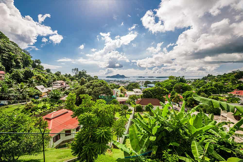 Victoria in the Seychelles. Mahe Island