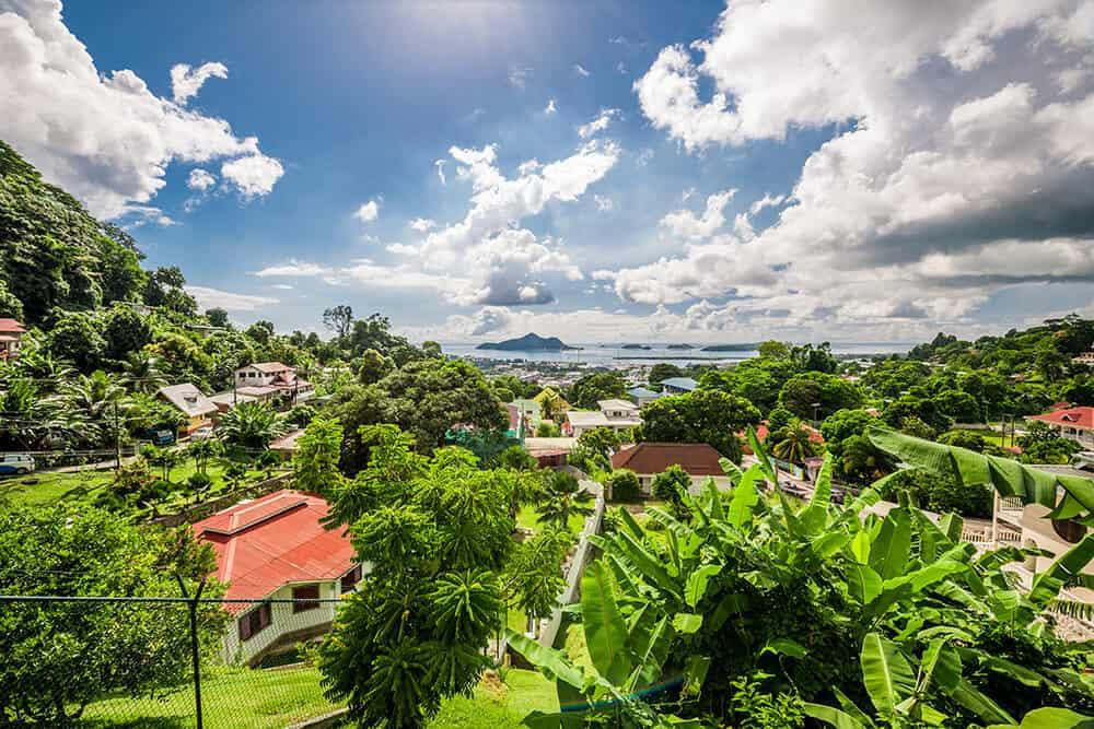 Victoria in the Seychelles. Mahe Island