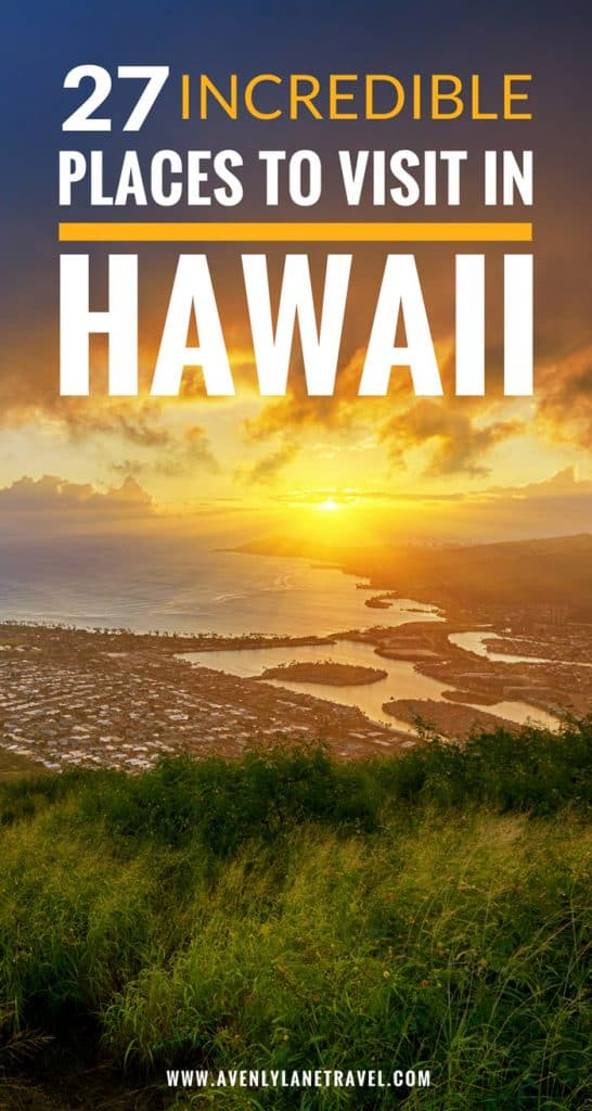 See 27 of the most incredible places to visit in Hawaii! #island #maui #oahu #travelphotography #beach #beautifulplaces #avenlylanetravel #hawaii