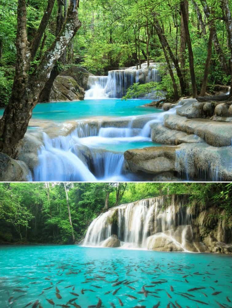 Erawan Waterfall in Thailand! See the best waterfalls in Asia on Avenlylanetravel.com