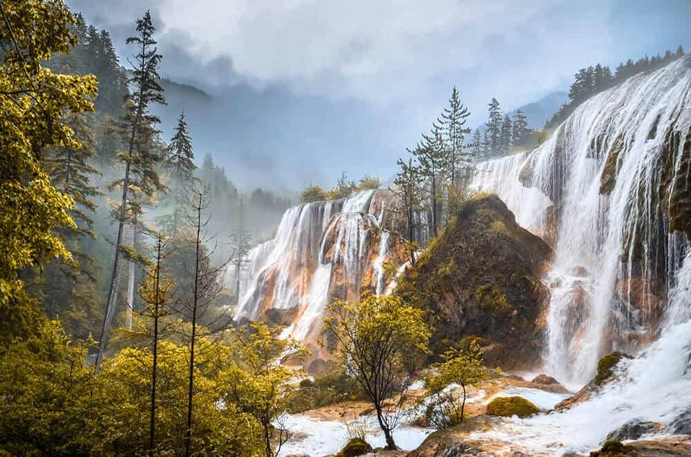 Pearl Shoal waterfall in China
