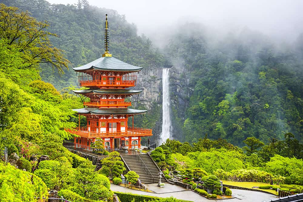Nachi Waterfall in Japan. See the best Asia Waterfalls on Avenlylanetravel.com
