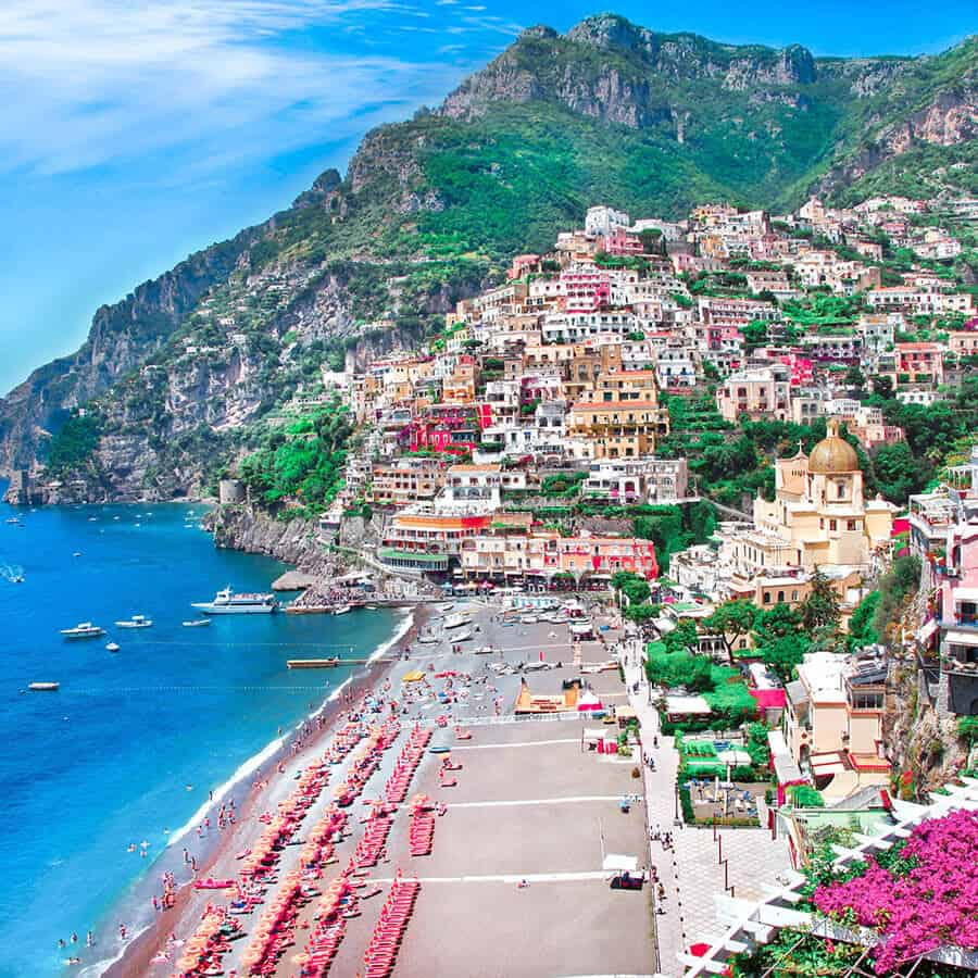 Best way to see the Almafi coast is by car. See 5 of the Italian Road Trips!
