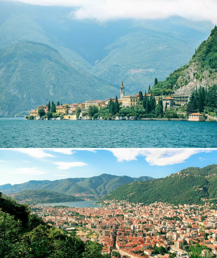 Lake Como, one of the best honeymoon destinations in Italy!
