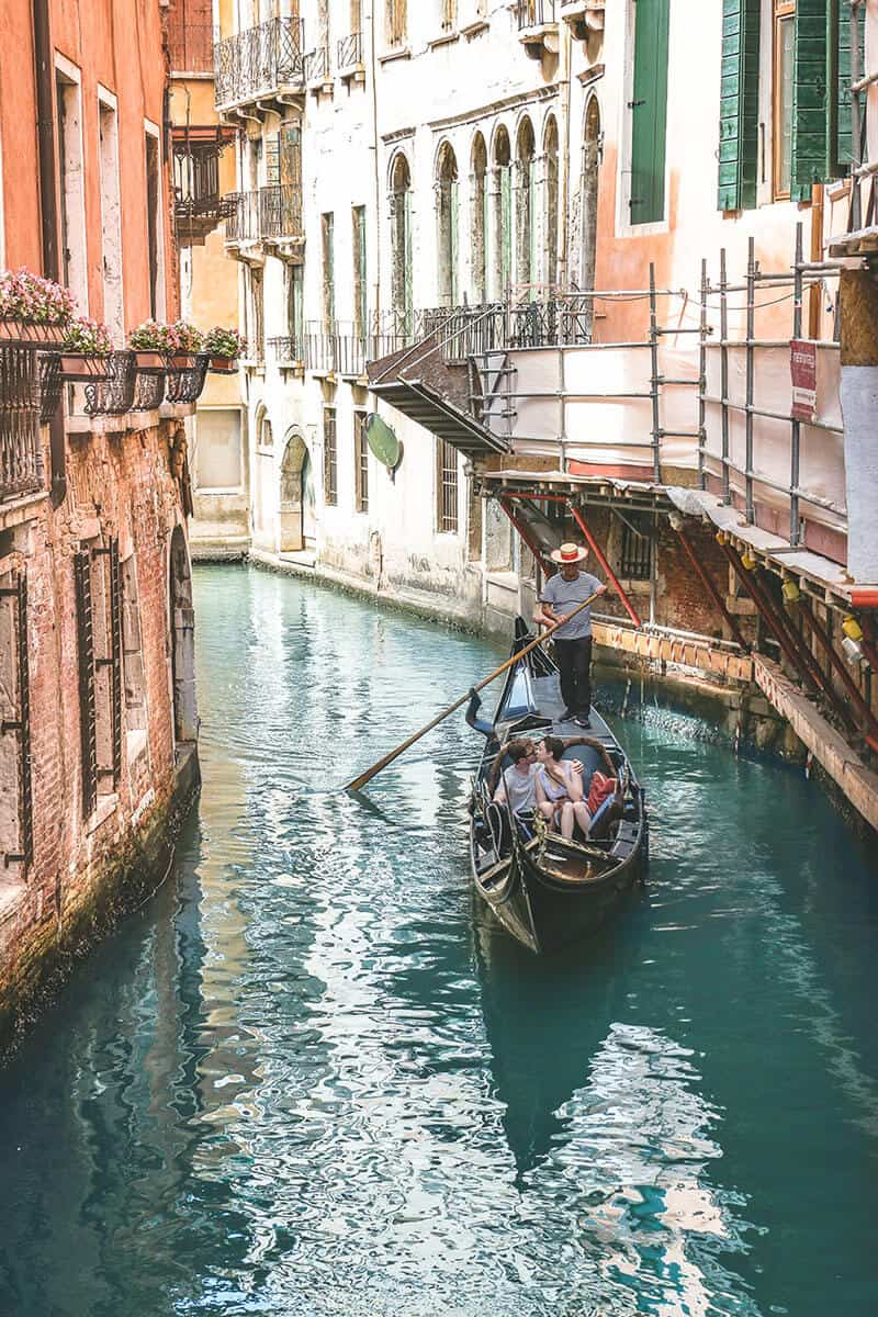 Venice Canal in Italy. 7 of the best honeymoon destinations in Italy!