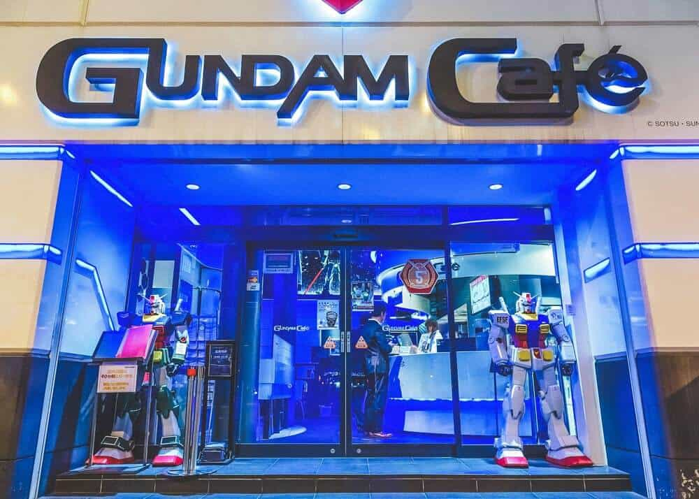 Gundam Cafe in Tokyo. Cool things to do in Tokyo, Japan