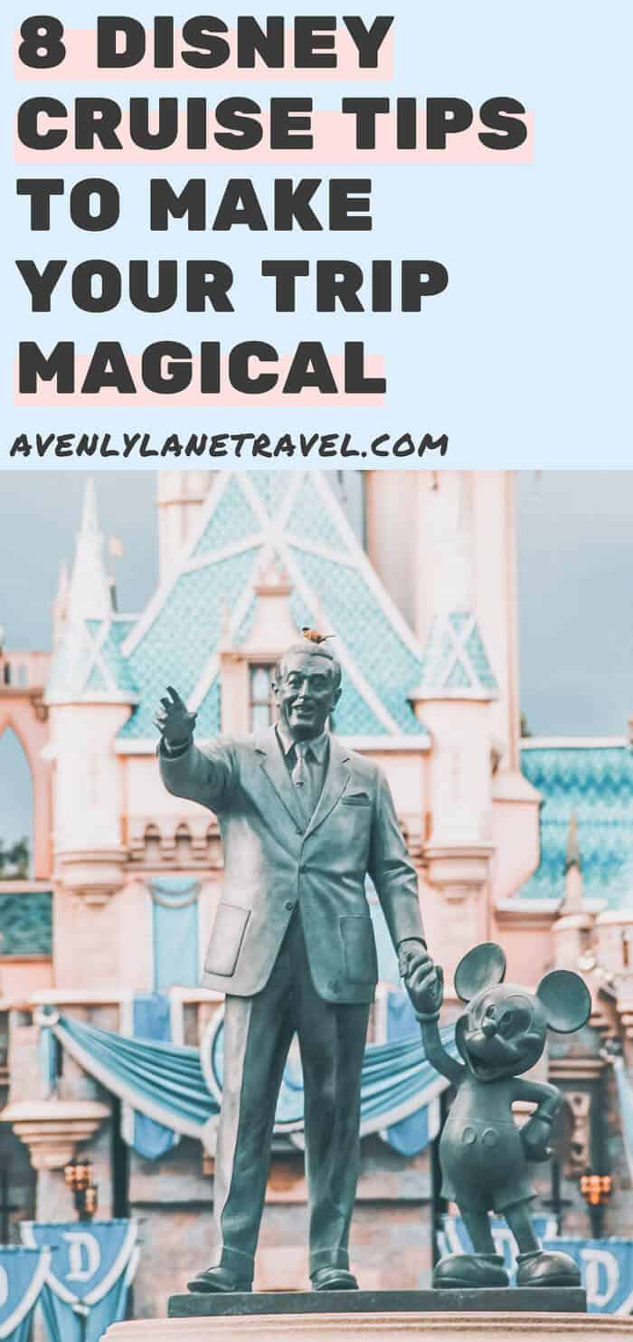 8 Disney Cruise Tips and Secrets to Make Your Trip Magical! Planning a cruise for the first time can be overwhelming. These disney cruise tips will help ensure that this trip becomes a dream vacation! #disney #cruise #vacation #disneycruise #avenlylanetravel #travel #disneyworld #disneyland #familytravel