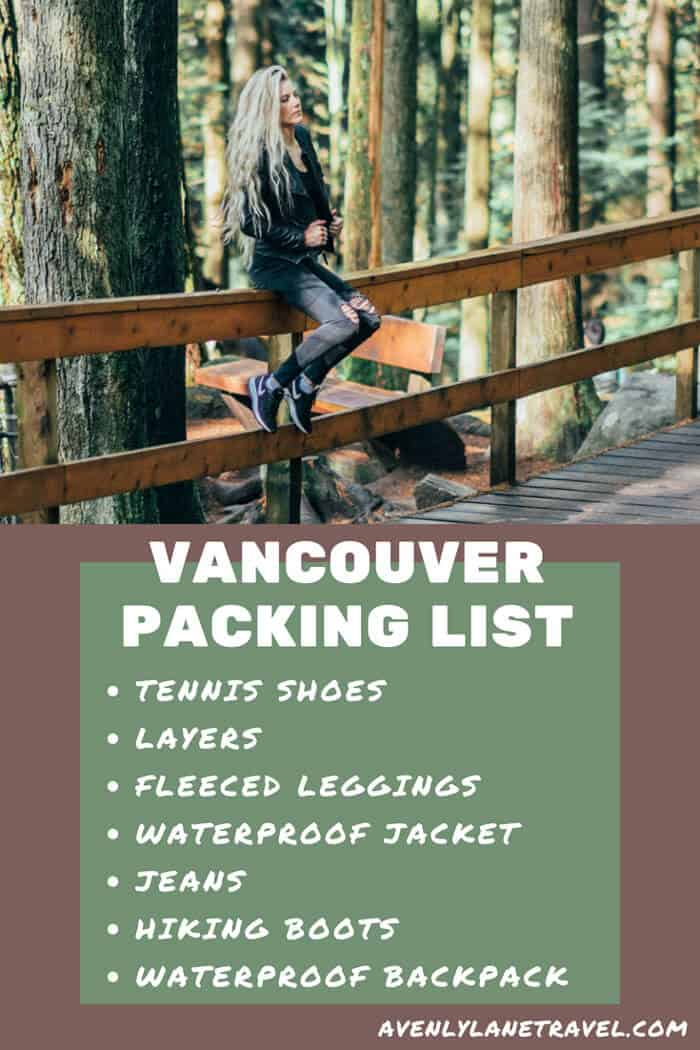 Vancouver packing list for 2 days in Vancouver, Canada. Travel tips on everything to wear and pack for a weekend trip to Vancouver. #vancouver #packinglist #style #traveltips #fashion #avenlylane #avenlylanetravel