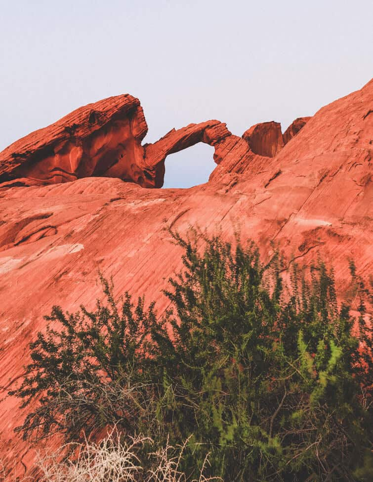 Arch Rock at the Valley of Fire Las Vegas