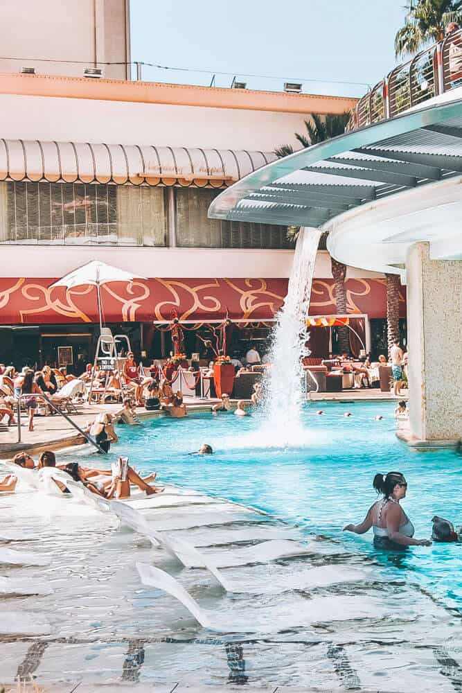 Day clubs at the pools in Las Vegas