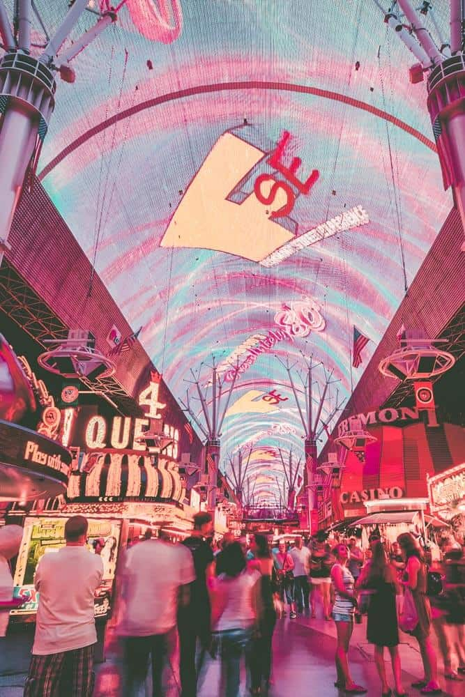 Fremont Street in downtown Las Vegas. Top 10 Must do's in Vegas for First Timer's!